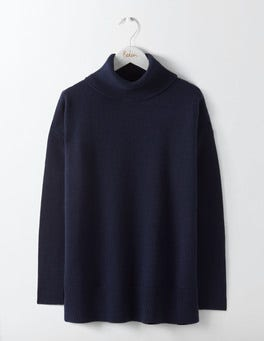 Navy Imogen Roll Neck Sweater