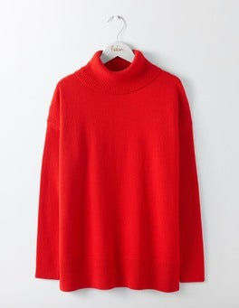 Post Box Red Imogen Roll Neck Jumper