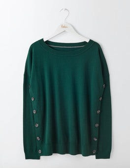 Deep Forest Grace Button Sweater