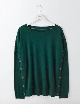 Deep Forest Grace Button Sweater