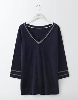 Navy Fern Sweater