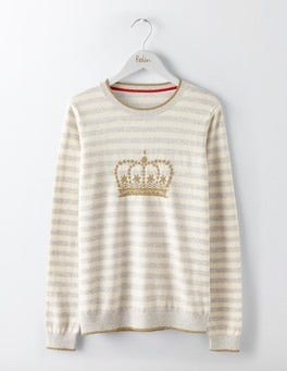 Crown Jacquard Maisie Jumper