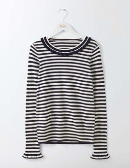 Navy/Ivory Stripe Bernadette Sweater