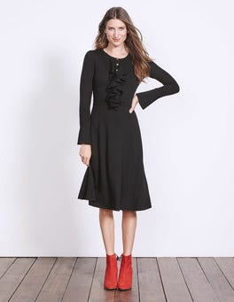 Black Noelle Knitted Dress