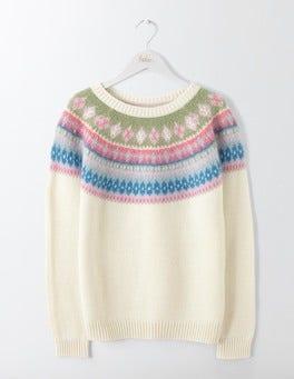 Ivory Fair Isle Anouk Fair Isle Sweater
