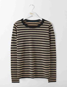 Black/Gold Stripe Renata Sweater