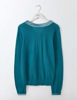 Dark Cyan Louise Knitted Jumper