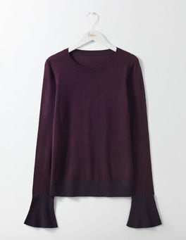 Elderberry Port/Navy Jasmine Sweater