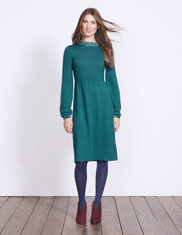 Dark Cyan Erin Knitted Dress
