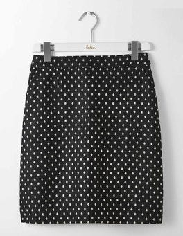 Black and Ivory Spot British Tweed Mini Skirt