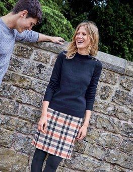 British Tweed Mini Skirt