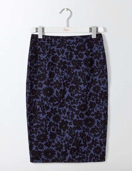 Carbon Blue Shadow Floral Martha Skirt