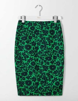Highland Green Shadow Floral Martha Skirt