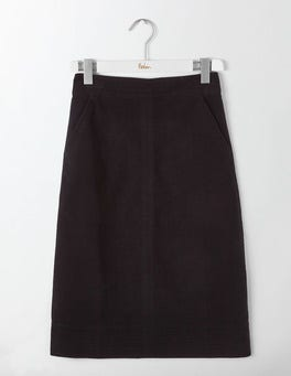 Black Camilla Midi Skirt