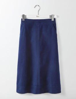 Navy Camilla Midi Skirt