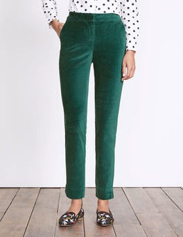 Deep Forest Velvet Trousers