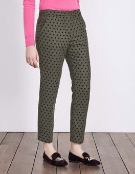 Fell Green With Navy Spot Mirabelle 7/8 Trousers
