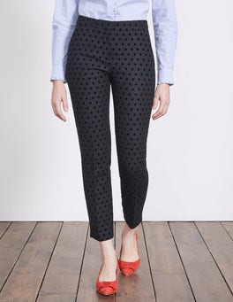 Navy with Black Spot Mirabelle 7/8 Trousers