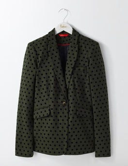 Fell Green with Navy Spot Mirabelle Blazer