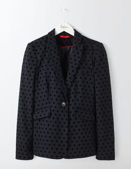 Navy with Black Spot Mirabelle Blazer