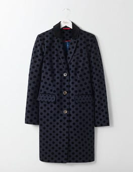 Navy with Black Spot Georgina Coat