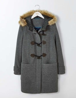 Mid Grey Wool Duffle Coat