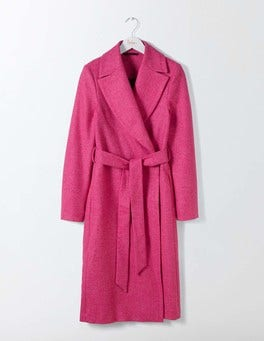 Party Pink Suki British Tweed Coat