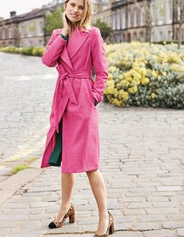 Suki British Tweed Coat