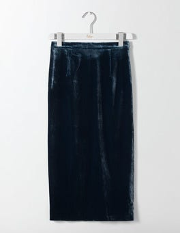 Ink Pot Lorna Velvet Pencil Skirt