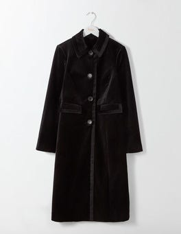Black Gigi Velvet Party Coat
