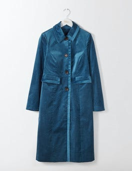 Rich Teal Gigi Velvet Party Coat