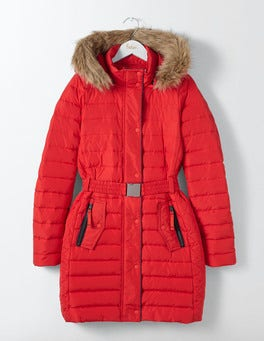 Post Box Red Alberta Puffer Coat