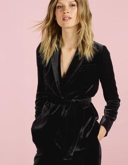 Black Roberta Velvet Jacket