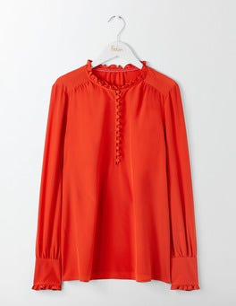 Red Pop Ella Silk Blouse
