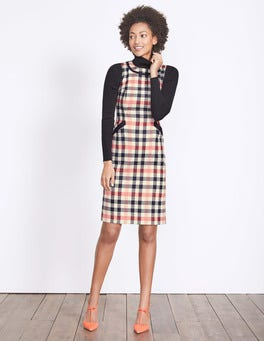 Pale Pink Check Deborah Tweed Dress