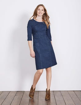 Bright Blue Wash Corinne Denim Dress