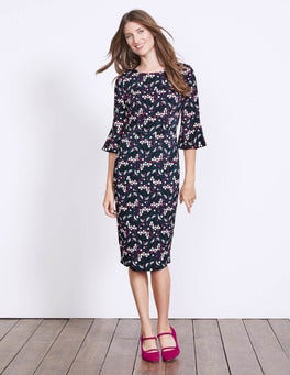 Navy Sprig Delia Dress