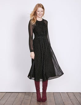 Black Polka Dot Erica Dress