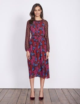 Dark Burgundy Wisteria Erica Dress