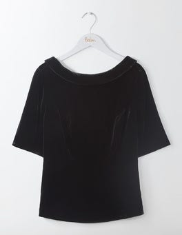 Black Velvet Martha Top