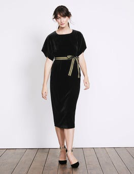 Black Robyn Velvet Dress