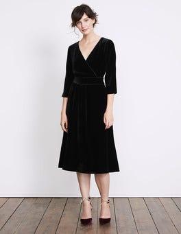 Black Farrah Velvet Dress