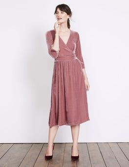Rose Farrah Velvet Dress