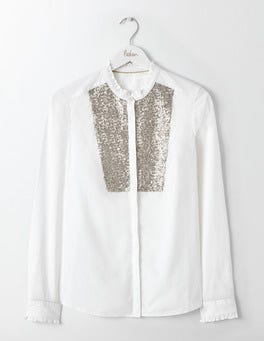 White Virginie Sequin Shirt