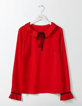 Post Box Red Frieda Top