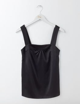 Black Tara Silk Cami