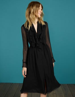 Black Winifred Midi Dress