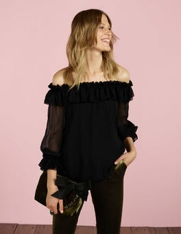 Black Zooey Blouse