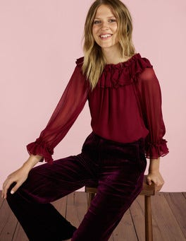 Wine Zooey Blouse