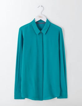 Ocean Ripple The Silk Shirt